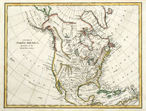 карта 1791 америки северная Стоковое Фото