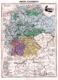 карта 1870 античная Германия Стоковое Изображение RF