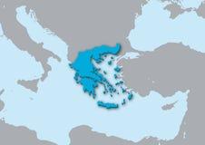 карта 3d Греции Стоковое фото RF