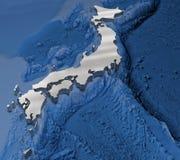 карта 3d японии Стоковые Фотографии RF