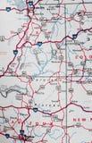 карта Стоковые Изображения