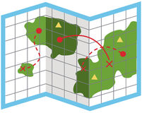 карта иллюстрация вектора