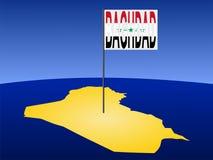 карта baghdad Ирака Стоковое фото RF