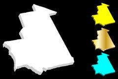 карта 3D Мавритании