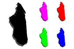 карта 3D Мадагаскара