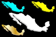 карта 3D Мексики бесплатная иллюстрация