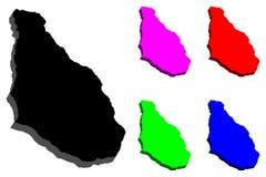 карта 3D Монтсеррата Стоковые Фотографии RF