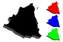 карта 3D Никарагуа Стоковые Изображения