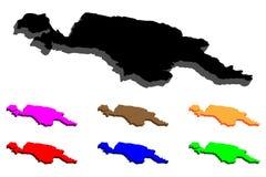 карта 3D Новой Гвинеи Стоковая Фотография