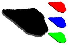 карта 3D острова Navassa Стоковые Фото
