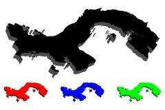 карта 3D Панамы Стоковое Фото