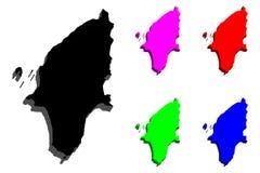 карта 3D Родоса Стоковая Фотография