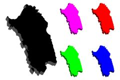 карта 3D Сардинии Стоковое Изображение