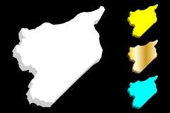 карта 3D Сирии Стоковое Изображение RF