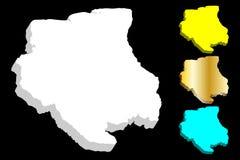 карта 3D Суринама Стоковая Фотография RF