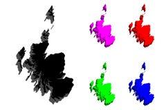 карта 3D Шотландии Стоковое Изображение RF