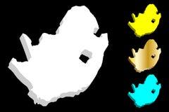 карта 3D Южной Африки Стоковые Фотографии RF
