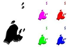 карта 3D St Pierre Стоковые Изображения RF