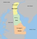 Карта Delaware County иллюстрация вектора