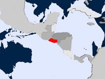 Карта El Salvador Стоковая Фотография RF