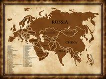карта eurasia Стоковое Изображение RF