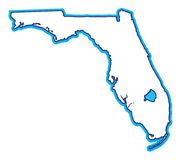 карта florida Стоковое Изображение RF