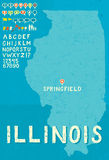 карта illinois Стоковые Изображения