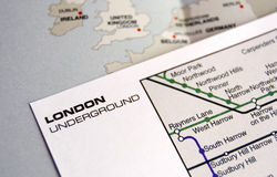 карта london подземная Стоковые Фото