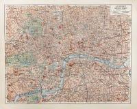 карта london старая Стоковая Фотография
