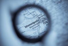 карта minneapolis стоковое изображение rf