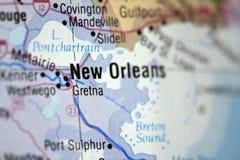 карта New Orleans Стоковое Изображение RF