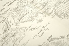 карта New York Стоковое Изображение