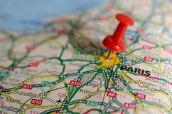 карта paris Стоковая Фотография RF