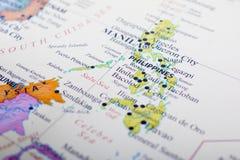 карта philippines стоковое изображение rf