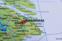 карта shanghai Стоковые Фото