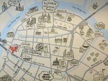 Карта Yoavaraj Стоковые Изображения RF