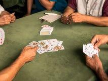 Картежники играя игру Стоковые Изображения