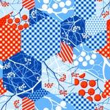 Картина абстрактного вектора зимы безшовная ветошей Стоковые Изображения RF