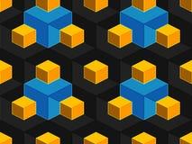 Картина абстрактного геометрического равновеликого вектора безшовная Стоковое Фото