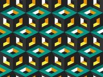 Картина абстрактного геометрического равновеликого вектора безшовная Стоковые Изображения