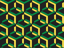 Картина абстрактного геометрического равновеликого вектора безшовная Стоковое Изображение