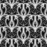 Картина абстрактного геометрического черно-белого вектора безшовная Стоковое Фото