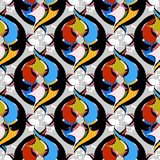 Картина абстрактного орнаментального красочного вектора безшовная декоративно иллюстрация вектора