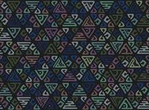 Картина абстрактного племенного искусства этническая безшовная Ikat Люди повторяя текстуру предпосылки Геометрическая печать Диза иллюстрация вектора