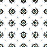 Картина абстрактного цветка зимы геометрического безшовная Стоковое Фото
