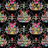 Картина абстрактного этнического стиля геометрическая безшовная Ornamen вектора иллюстрация штока