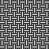 Картина абстрактного monochrome weave безшовная в азиатском стиле Стоковая Фотография