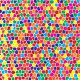 Картина абстрактной геометрической красочной мозаики безшовная для ткани, ткани, бумаги, обоев Бесплатная Иллюстрация