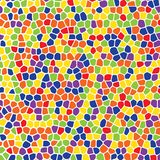 Картина абстрактной геометрической красочной мозаики безшовная для ткани, ткани, бумаги, обоев Иллюстрация штока