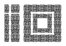 Картина абстрактной ленты шнурка безшовная Линия дизайн шаблона шнурок doily Стоковая Фотография RF